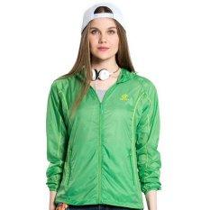 Spesifikasi Wanita Outdoor Tabir Surya Jaket Uv Perlindungan Hiking Berburu Pendakian Coat Protection Solar Hijau Intl Paling Bagus