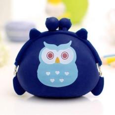 Jual Wanita Owl Silicone Jelly Wallet Ubah Bag Key Pouch Dompet Koin Intl Oem Ori