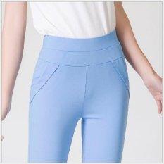 Jual Wanita Celana Musim Panas 2017 Permen Warna Kurus Slim Pensil Elastis Celana Lace Diamond Celana Capris Untuk Wanita Blcak Int S Intl Branded Original