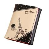Harga Wanita Menara Eiffel Paris Pengait Koin Dompet Pendek Dompet Kartu Pemegang Tas Tangan Hitam