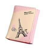 Beli Wanita Paris Menara Eiffel Pengait Koin Dompet Pendek Dompet Kartu Pemegang Tas Tangan Pink Intl Online