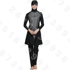 Wanita Plus Ukuran Baju Renang Muslim Pantai Mandi Setelan Muslimah Baju Renang Islami Berenang Berselancar Pakaian Olahraga Pakaian Saman Mandi Muslim internasional