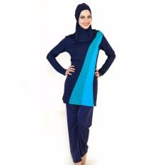 Wanita Plus Ukuran Muslim Swimwear Beach Mandi Suit Muslimah Islam Swimsuit Berenang Surf Wear-Intl