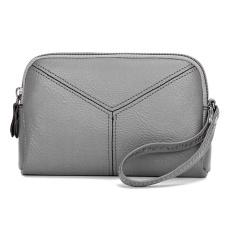 Diskon Wanita Pu Kulit Ponsel Mini Multifungsi Casing Kartu Koin Clutch Bag Grey Intl Branded