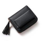 Spesifikasi Tas Kulit Pu Wanita Zipper Dompet Pendek Koin Pemegang Kartu Dompet Intl Lengkap