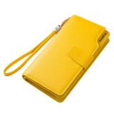Harga Women Pu Leather Zipper Coin Purse Wristband Hasp Yellow