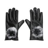 Spesifikasi Sarung Tangan Sentuh Kulit Pu Bulu Kelinci Wanita Untuk Sarung Tangan Musim Dingin Hitam Intl Vakind Terbaru