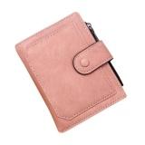 Toko Women Retro Zipper Koin Dompet Pendek Dompet Kartu Pemegang Tas Tangan Merah Muda Terdekat
