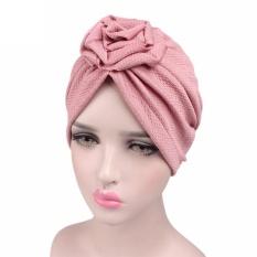 Women Roses Cancer Chemo Hat Beanie Scarf Turban Head Wrap Cap PK - intl