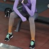 Diskon Wanita Menjalankan Yoga Olahraga Fitness Gym Celana Celana Latihan Legging Orange L Intl