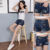 Toko Jual Women S Fashion S*xy Denim Pants Jeans Short Dark Blue Short Hole Intl
