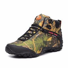 Wanita's Outdoor Athletic Sepatu Kulit Asli Sneaker Waterproof Tahan Selip Bantalan Sol Karet Desert Camo Trekking Sepatu untuk Travel-Intl