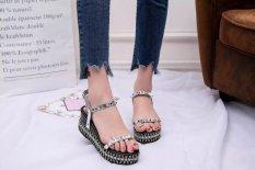 Spesifikasi Sandal Wanita 2017 Musim Panas New Open Toe Ikan Kepala Fashion Platform Tinggi Heels Wedge Sandal Wanita Sepatu Wanita Sepatu Intl Bagus