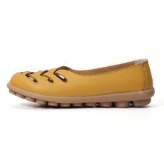 Jual Beli Wanita Sandal Musim Panas Sepatu Kulit Asli Bergerak Keluar Perawat Otot Sapi Gladiator Flats Sepatu