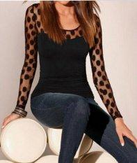 Wanita Menjual Panas Lubang Baru Lubang T-shirt Eropa dan Amerika Base Shirt Ukuran Besar-Intl