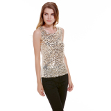 Jual Tank Top Payet Emas Wanita Not Specified Original