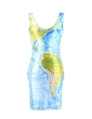 Toko Wanita S*xy Personalized Sleeveless Tops Peregangan Bodycon Mini Dress Sundress 9 Jenis Intl Lengkap