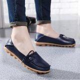 Situs Review Sepatu Wanita Sepatu Flat Kulit Kupluk Musim Semi Musim Panas Musim Gugur Yg Dikenakan Lewat Kepala Simpul Antislip Wanita Lembut Wanita Wanita Loafers Flat Dark Biru