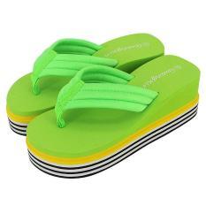 Jual Beli Women Shoes Stretch Flip Flops Beach Sandals Wedge Platform Casual Slippers Intl Baru Tiongkok