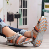 Sepatu Wanita Kasual Musim Panas Jala Bernapas Dengan Lembut Memakai Sepatu Fashion Sepatu Olahraga Rendah Atas Kelabu Internasional Original