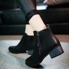 Ulasan Tentang Wanita Sepatu Vintage Fashion Ankle Boots Wanita Boots Side Zipper Sepatu Intl