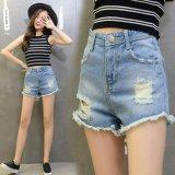 Harga Wanita Pendek Jeans Slim Shorts Hot Celana Berjumbai Burr Manset Pendek Pantai Celana Pendek Intl Oem