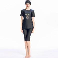 Wanita Lengan Pendek Swimwear Muslim Islam Kesederhanaan Swimsuit Burkini Kostum Renang-Swimwear Sederhana untuk Wanita-Intl