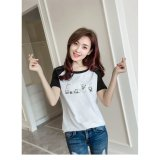 Review Tentang Women Short Sleeve Printed Casual T Shirt Blouse Shirt Intl