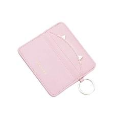 Spesifikasi Wanita Warna Solid Sederhana Terbuka Koin Dompet Pendek Dompet Kartu Pemegang Tas Tangan Merah Muda Yang Bagus Dan Murah