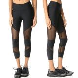 Jual Beli Online Wanita Legging Skinny Patchwork Mesh Yoga Legging Fitness Sports Capri Celana Intl