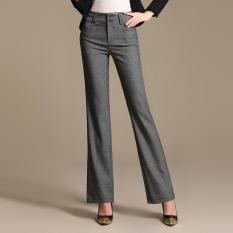 Beli Wanita Berkilau Ramping Celana Bootleg Jeans Bawah Lonceng Boot Seluar Panjang Potongan Pinggang Tinggi Skinny Pants Wanita Suit Pants Intl Pake Kartu Kredit