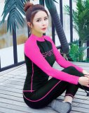 Spesifikasi Wanita Sport Letter Print Swimsuit Profesional Tabir Surya 2 Pieces Wetsuit Rose Intl Online