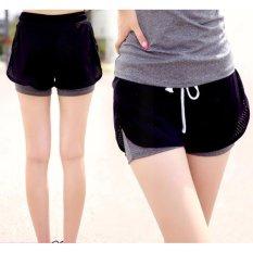 Beli Wanita Olahraga Menjalankan Celana Pendek Hollow Out 2 In 1 Short Pants Yoga Workout Fitness Celana Intl Oem