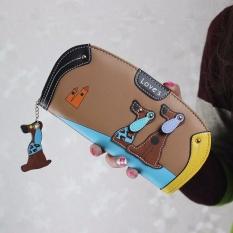 Toko Women Stitching Puppy Dog Zipper Koin Dompet Panjang Dompet Kartu Pemegang Tas Tangan Co Intl Oem Di Tiongkok