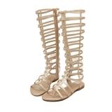 Ulasan Lengkap Tentang Wanita Sandal With Sepatu Bot Setinggi Lutut Kaki Datar Buka Sandal Gladiator With Penutupan Ritsleting