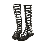 Beli Wanita Sandal With Sepatu Bot Setinggi Lutut Kaki Datar Buka Sandal Gladiator With Penutupan Ritsleting Pakai Kartu Kredit