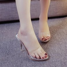 Spesifikasi Wanita Mode Musim Panas Transparan Sandal Ukuran 35 39 Perak Intl
