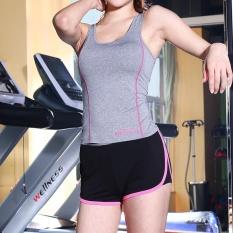 Wanita Musim Panas Cepat Kering Olahraga Yoga Celana Pendek Menjalankan Jogging Kebugaran Gimnasium Celana Pendek-Merah-Internasional