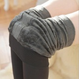Beli Wanita Thermal Tebal Hangat Fleece Lined Fur Winter Ketat Pensil Legging Celana Abu Abu Internasional Online Murah