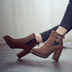 Toko Wanita Hak Tinggi Double Tekuk Elastis Tebal Keadaannya Pos Martins Sepatu Bot Sepatu Fashion Wanita Termurah