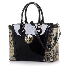 Beli Women Top Handle Bag Shoulder Bags Pu Leather Handbags Solid Tote Bolsas Feminina Borse Female Herald Fashion Women Bag Black 1 Intl Oem