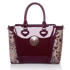 Wanita Top-Handle Bag Shoulder Bags PU Leather Handbags Solid Tote Bolsas Feminina Borse Jakarta 'S Info Fashion Wanita Tas (Merah-1)
