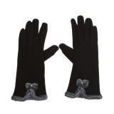 Tips Beli Women Touch Screen Mittens Sheep Wool Winter Bowknot Glove Brown Intl Yang Bagus