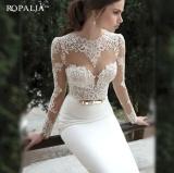 Wanita Putih Panjang Ketat Prom Malam Partai Bridesmaid Pernikahan Maxi Gaun Putih Indonesia Diskon