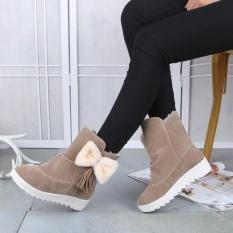 Toko Wanita Musim Dingin Bot Salju Fashion Wanita Ankle Boots Bow Wanita Sepatu Kasual Terlengkap