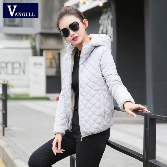 Harga preferensial Wanita Musim Dingin Jaket Hooded Fleece Padat Mantel  2017 Autumn Spring Tipis Pakaian Luar Wanita Pendek Zipper Student Jaqueta  Feminina ... 7f60a4c687