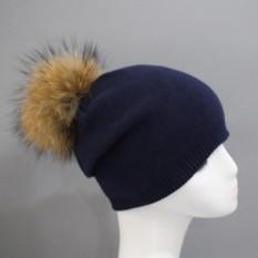 Women Winter Pearl Crochet Hat Fur Wool Knit Beanie Raccoon Warm Cap GY MAC XS 844 - intl
