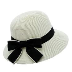 Wanita Winter Pearl Crochet Hat Bulu Wol Knit Beanie Raccoon Hangat Cap WH MAC XS 1001-Intl
