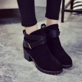 Beli Wanita Musim Dingin Salju Ladies Low Heel Ankle Belt Buckle Martin Boots Shoes Not Specified Asli