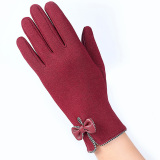 Beli Sarung Tangan Hangat Layar Sentuh Klik Untuk Wanita Merah Intl Cicilan